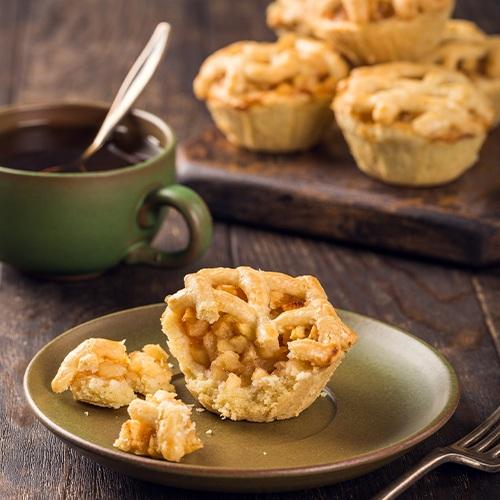 Gezond ontbijt recepten - mini appeltaart