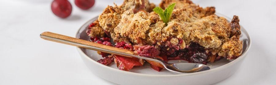 Gezonde desserts recepten - bosbessen crumble