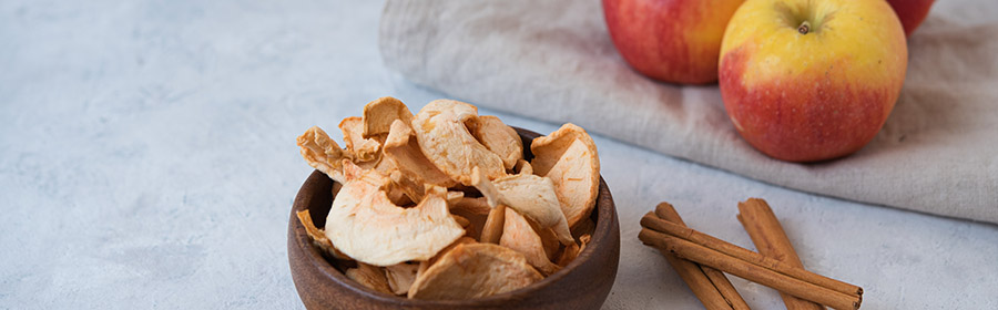 gezonde snacks appelchips