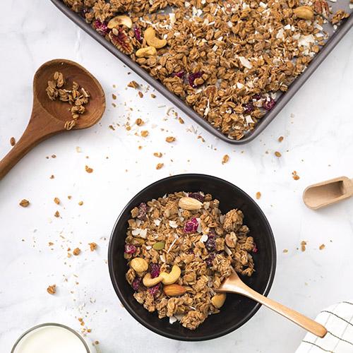 gezonde snack suikervrije granola