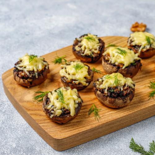 Gezonde kerst recepten - gevulde champignons