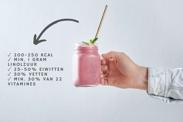 Goede samenstelling van afval shakes