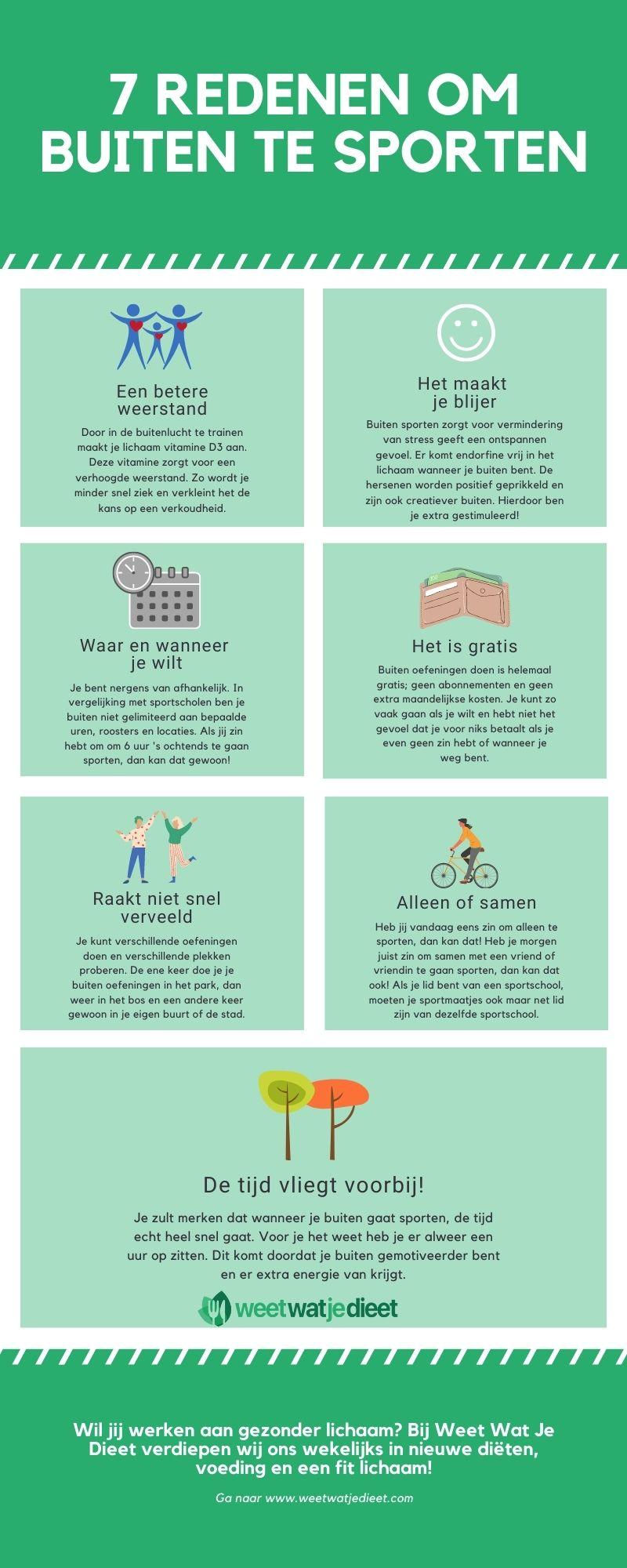 7 redenen voor buiten sporten